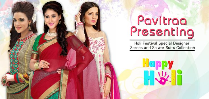 Holi Festival Designer Sarees and Salwar Suits Online Collection 2015 @ http://utsavsaree.in/holi-festival-designer-sarees-salwar-suits-online-collection-2015/  #utsavsaree, #salwarsuits, #partywearsarees, #lehengacholi, #onlineshopping, #holispecialsuits