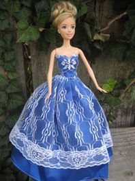 Barbie Gown in Royal Blue