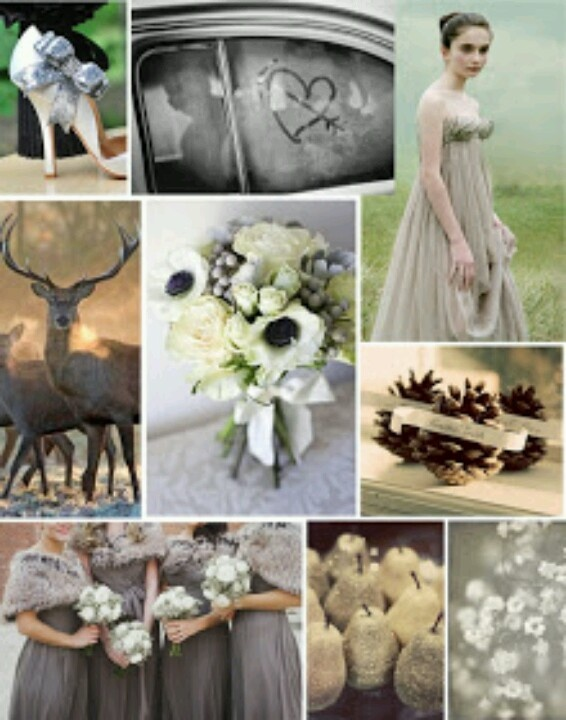 First frost wedding mood board