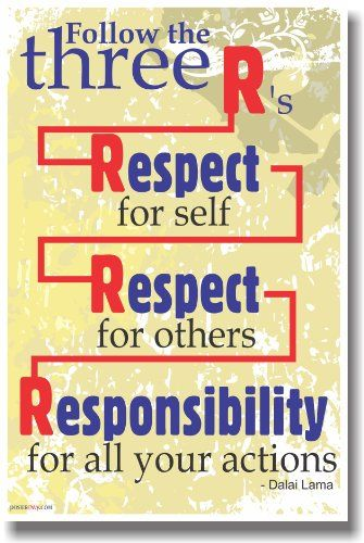 Classroom Motivation Ideas ~ Amazon follow the r s respect for self
