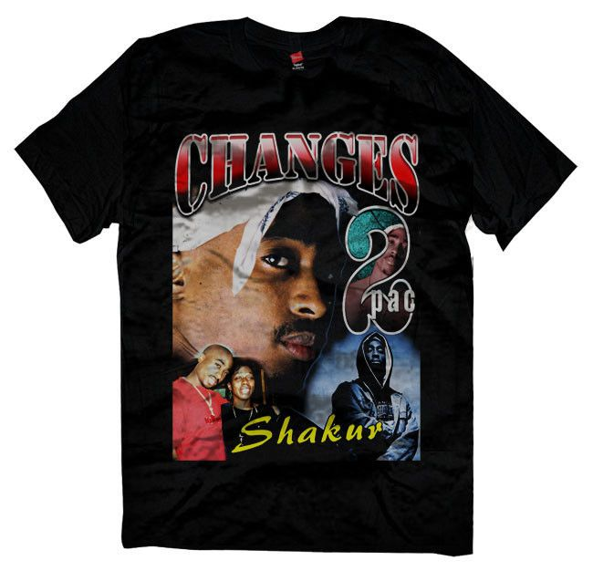 New Changes Makaveli Vintage 90 S Design Reprint Tupac T Shirt Size M 2xl Gildan Basictee Vintage T Shirt