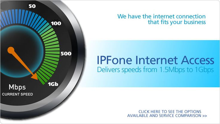 IPFone Internet Access offers high-speed Internet access options designed to help your business reduce costs, boost productivity and increase worker efficiency.