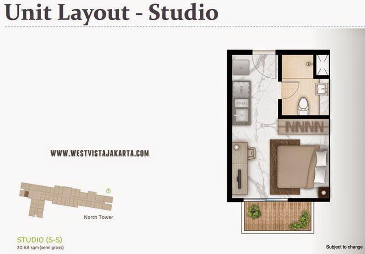 Tipe unit Studio #WestVistaJakarta