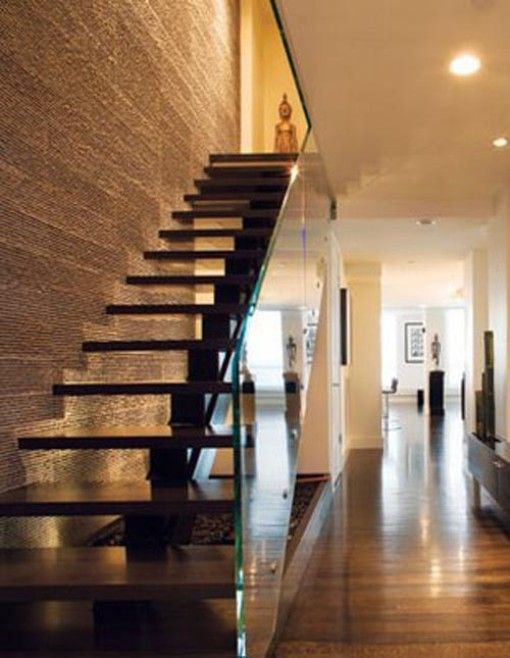 Stairs Design | Modern and Elegant Minimalist Wood Glass Staircase Design Inspiration
