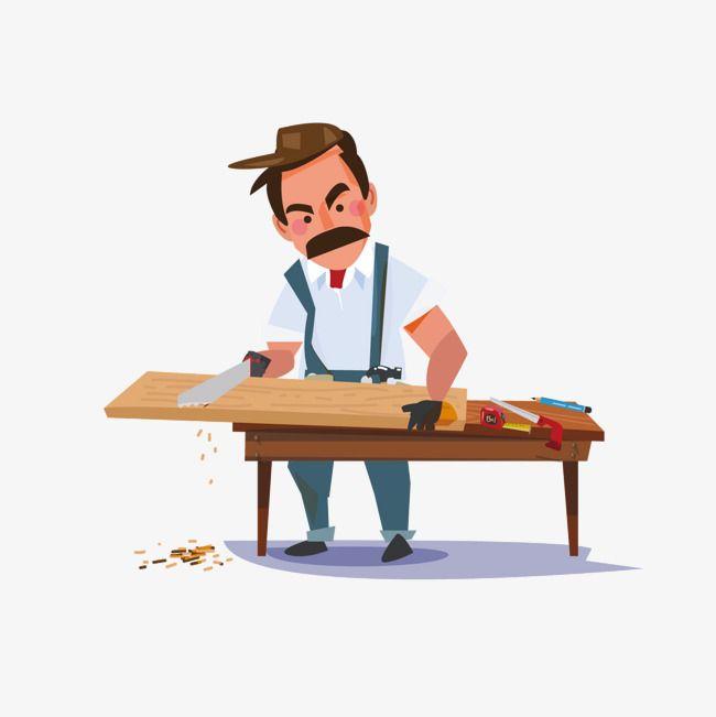 Cartoon Carpenter Goruntuler Ile Karakter Sanati Sanat Ahsap