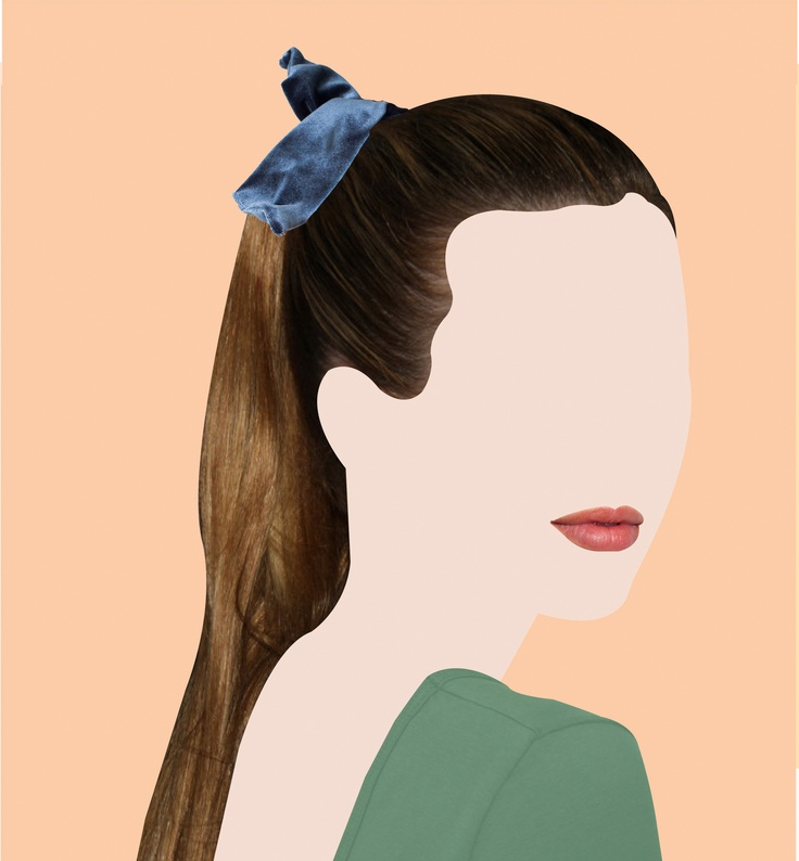 Ways to Wear it: The Velvet twist Scarf by #AmericanApparel. Illustrations by Kreshnik. #twistscarf #illustration #velvet