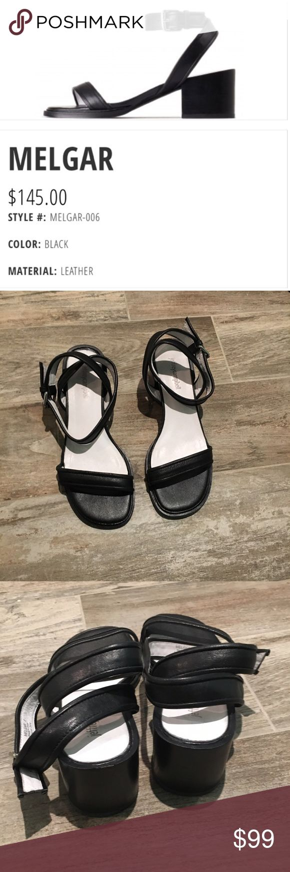 Jeffrey Campbell sandals Worn for about 20 minutes.  In the house only! 😉.  Super cute black leather sandals that don't need to be unbuckled if u know what your doing! Super soft leather and no flaws other than the bottom of shoe. Jeffrey Campbell Shoes Sandals