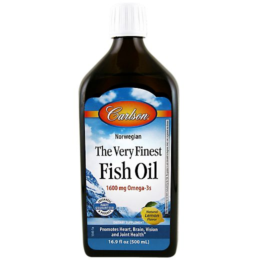 The Very Finest Fish Oil 1600 MG - Lemon (16.9 Fluid Ounces Liquid) by Carlson Laboratories at the Vitamin Shoppe Mobile
