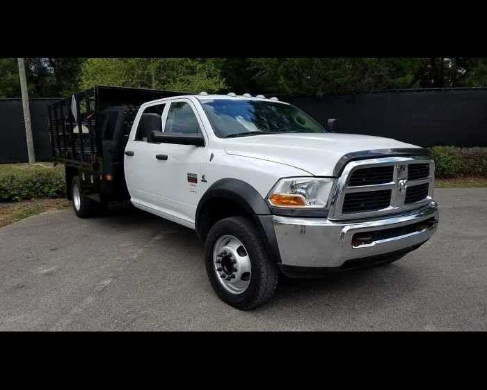 2012 Dodge Ram 5500hd 12ft 4x4 Crewcab Flatbed 38500 Http Www Afetrucks Com Medium Duty Trucks Fla Trucks For Sale Medium Duty Trucks Truck Flatbeds