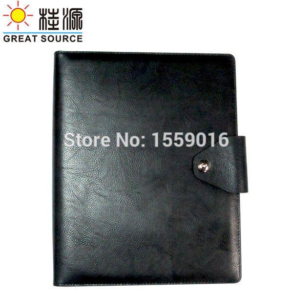 Great Source A4 Padfolio Compendium Binders folde leather file folder 4 rings binder folder with calculator
