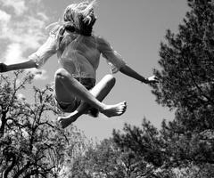 trampolines.