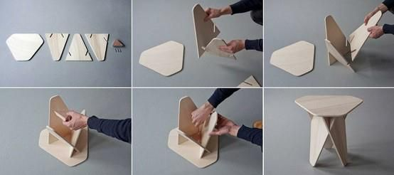 silla desmontable: Wedges Side, Side Tables, Crafts Ideas, Diy Fashion, Cnc Furniture, Crafts Inspiration, Andrea Kowalewski, Autoprogettazion 2 0, Design Stuff