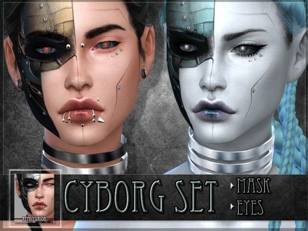 The Sims Resource: Cyborg Set by RemusSirion • Sims 4