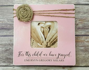 Personalized Photo Frame - For This Child We Have Prayed - Picture Frame - Baby Shower Gift - Ultrasound Pic - Birthday - Baby Announcement
