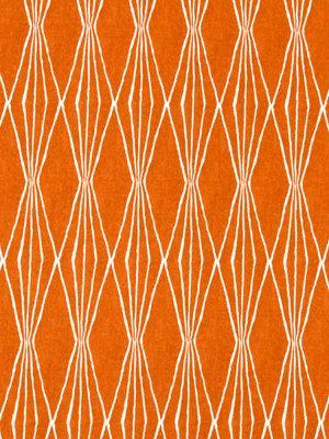 Tangerine Upholstery Fabric - Modern Orange Fabric by the Yard - White and Orange Fabric Yardage