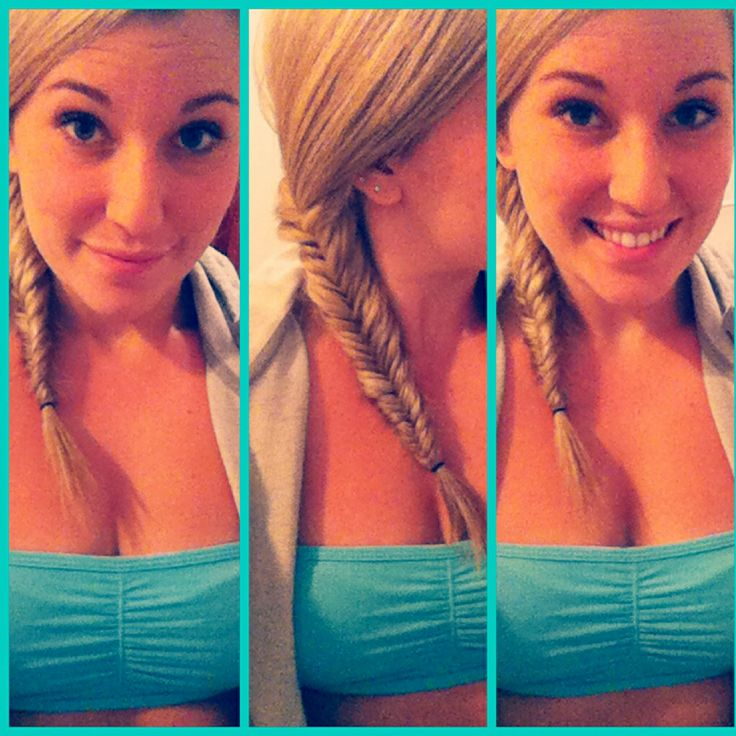 Lazy fishtail for summer hair! Easy N Fast!