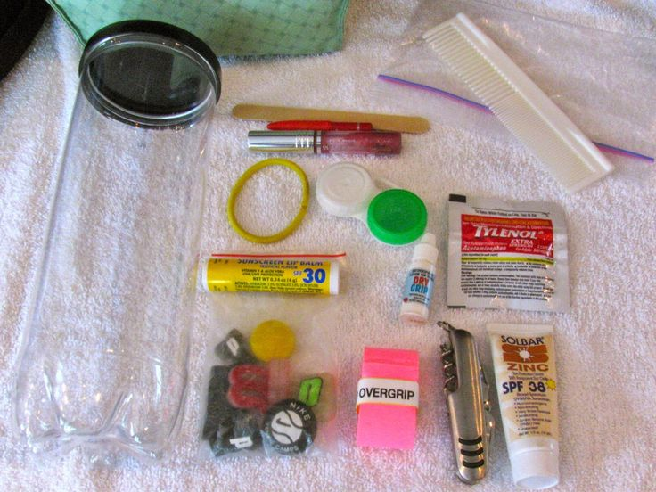 MAY DAYS: What's In My Tennis Bag? using an empty tennis can for an emergency tennis kit