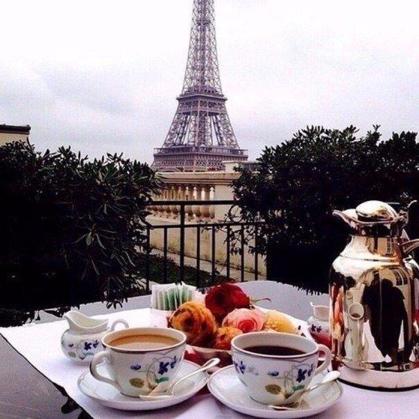Картинки чай и эйфелева башня
