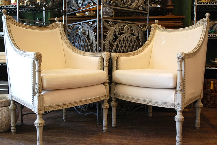 Authentic Antique Swedish Gustavian Arm Chairs - $2,990.00, via Etsy.