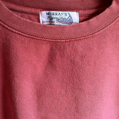 When lounging, few things are more comfortable than our Nantucket Red cotton crew neck sweatshirt