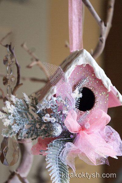 Christmas Birdhouse in pink 2013 by kirakoktysh.com