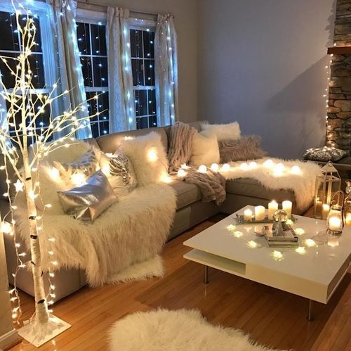 Fairy Lights And Faux Fur Throws ❤ Part 26