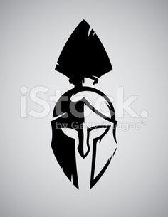 Spartan helmet royalty-free stock vector art