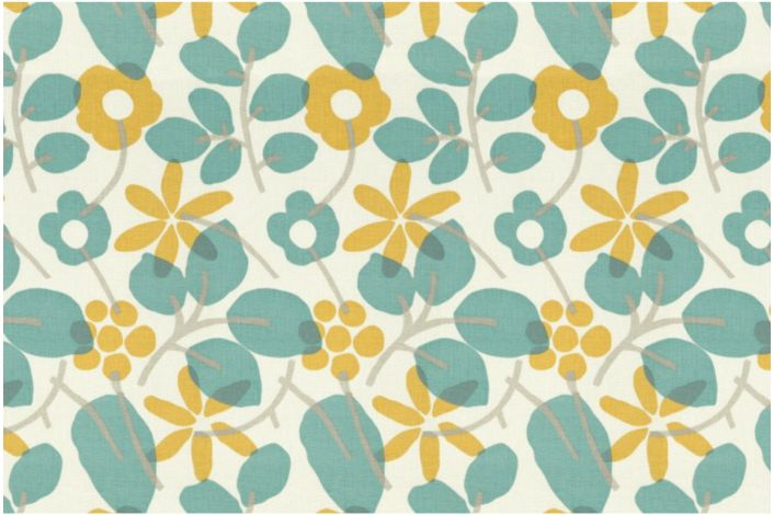 Bathroom Makeover Day 17:  Floral Hand Painted Floor Cloth
