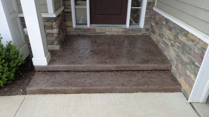 30 best front step ideas images on pinterest entryway - Resurfacing exterior concrete stairs ...