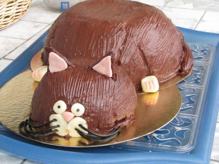 Gateau anniversaire en forme de chat