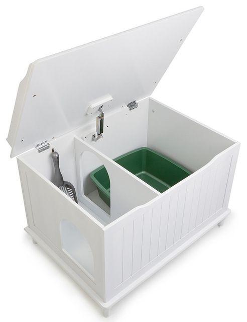 Designer Catbox Litter Box Enclosure traditional-pet-care