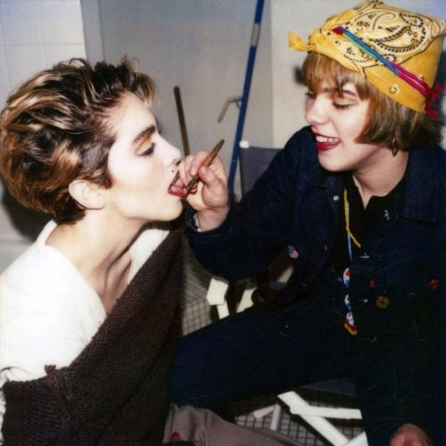 Back in the day when Debi used to do Madonna's makeup