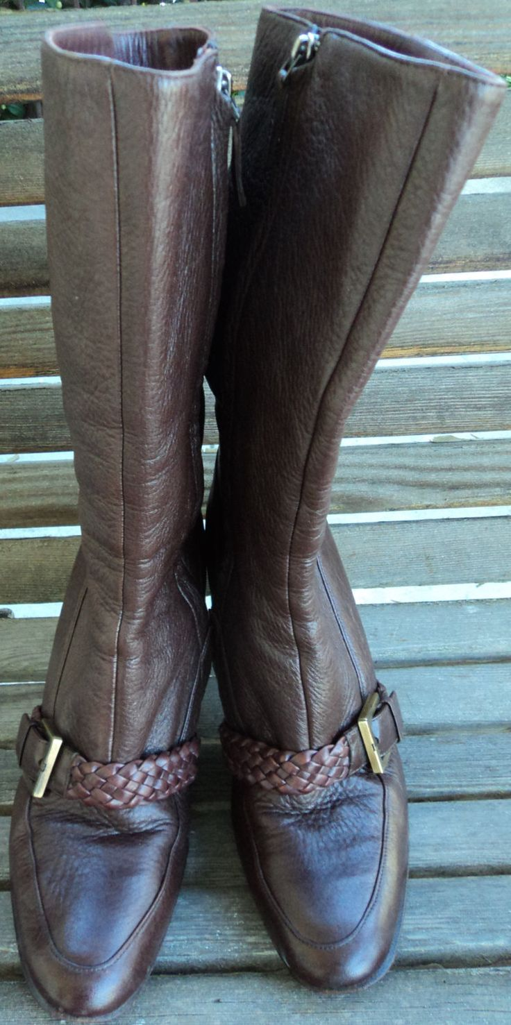 Vintage GIVENCHY brown leather boots, size 8 soft & supple luxury by Antiguabay on Etsy