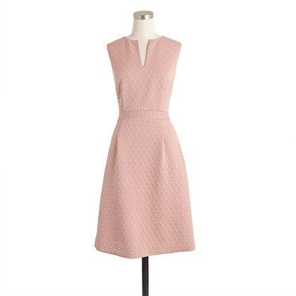 J.Crew+-+Petite+sleeveless+textured+jacquard+dress