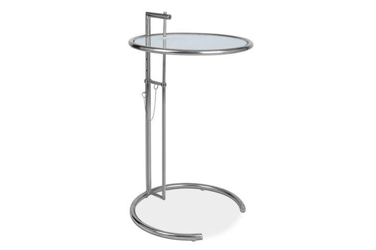 Eileen Gray Höhenverstellbarer Cocktail Tisch E 1027