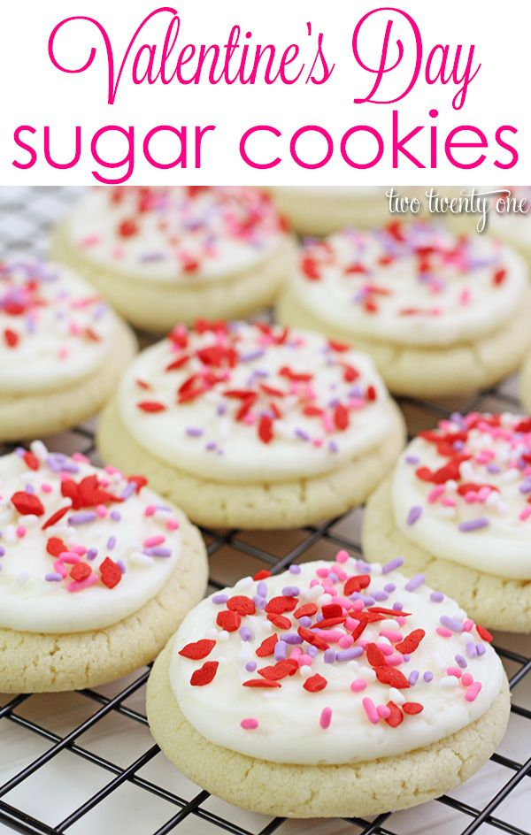 Easy Valentine's Day sugar cookies! Love that you don't have to roll ...