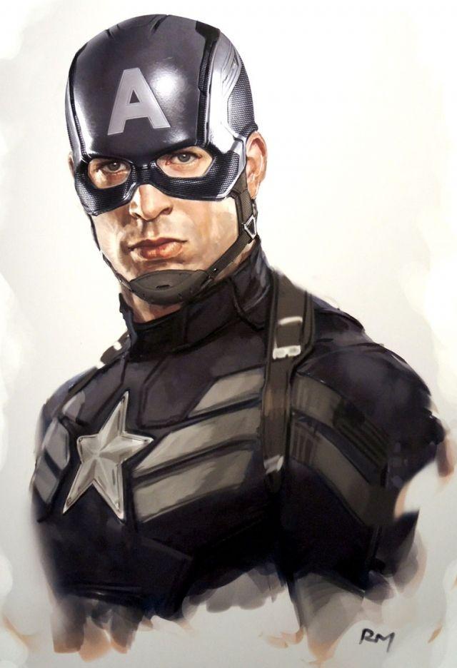 Captain America Stealth Costume Sketch