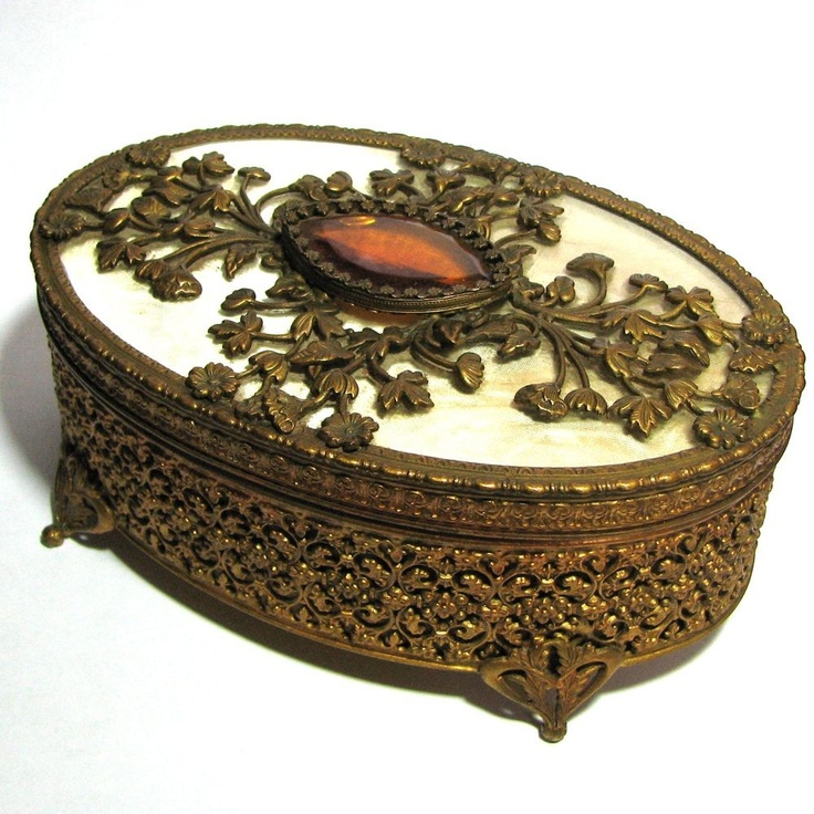 26 best Jewelry Boxes images on Pinterest Trinket boxes Antique