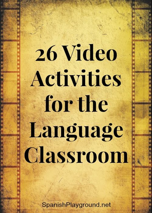 Video activities for language class engage students with native speaker Spanish and images. 26 video activities to practice listening skills and vocabulary.