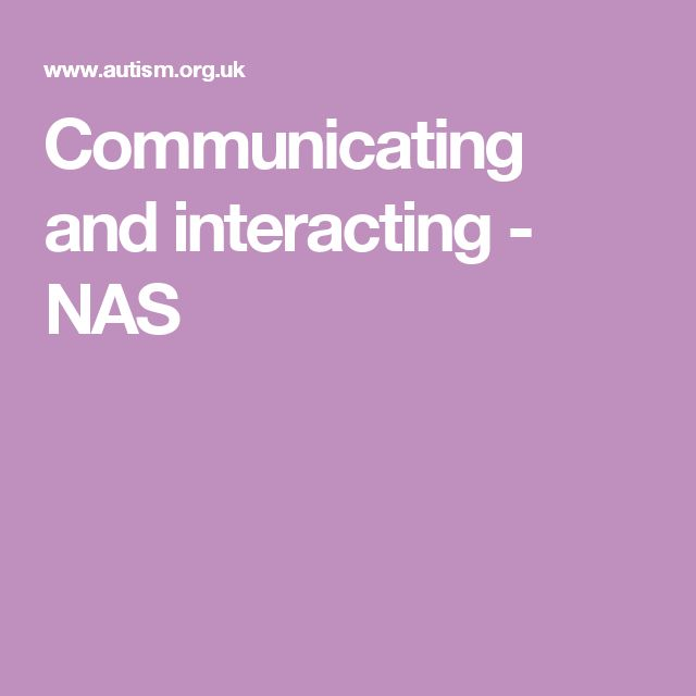 Communicating and interacting - NAS - I chose this particular page as some people may see the disability as the barrier to communication.  For this example, I focused on Autism.
