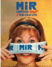 La dose de Mir que l'on m'envoyait régulièrement acheter chez l'épicier.... PUBLICITE 1960 MIR produit entretien en dose