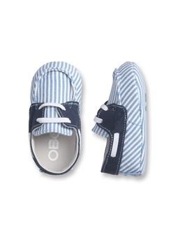 Chaussures rayées bébé Bleu Givré Garçon