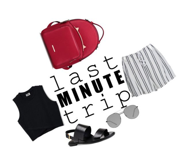 """last minute trip"" by chrysapan on Polyvore featuring WithChic, Calvin Klein and Elizabeth and James"