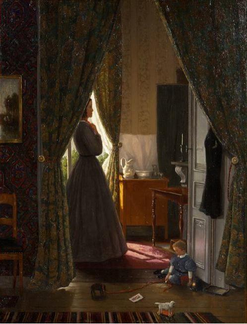 Hendrik Willem Mesdag (1831-1915) Scheveningse interieurs.