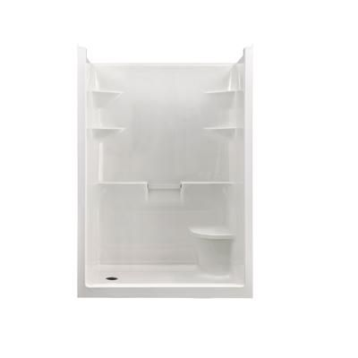 One Piece Shower Stall Units | Mirolin - Melrose 5 Acrylic 1-piece Shower Stall With Seat- Right Hand ...