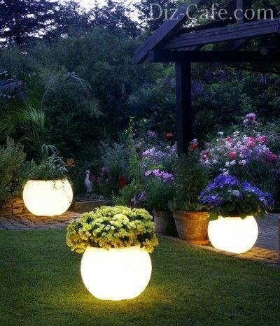 Светящиеся горшки для растений