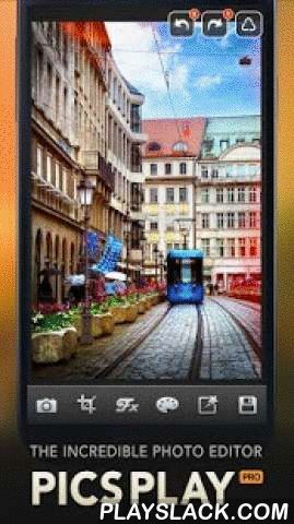 "PicsPlay - Photo Editor  Android App - playslack.com , Spotlighted on Forbes as one of ""Best Photo Apps For iOS And Android Tablets"" by Amadou Diallo, July 3rd, 2013 More than 10 million downloads!★★★★★ PicsPlay, The Incredible Photo Editor! PicsPlay contains 200 filters and all editing features which allow you to express the best moments of your life. Photos of your daily life and travelling can be depicted as the most memorable moment. PicsPlay is easier and more convenient than any other…"