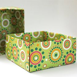 Make these pretty gift boxes from scrap book paper