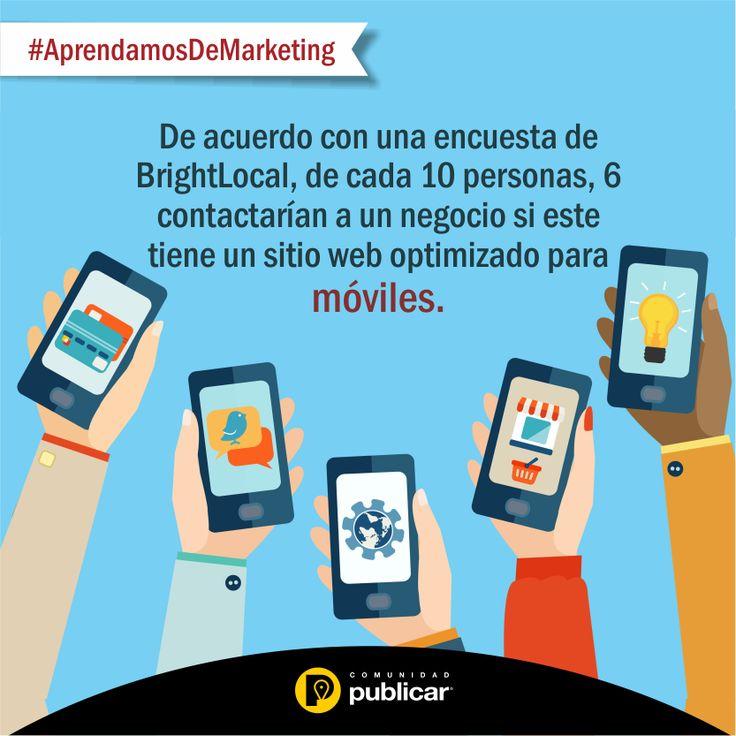Y usted ¿ya optimizó su sitio #web para móviles?