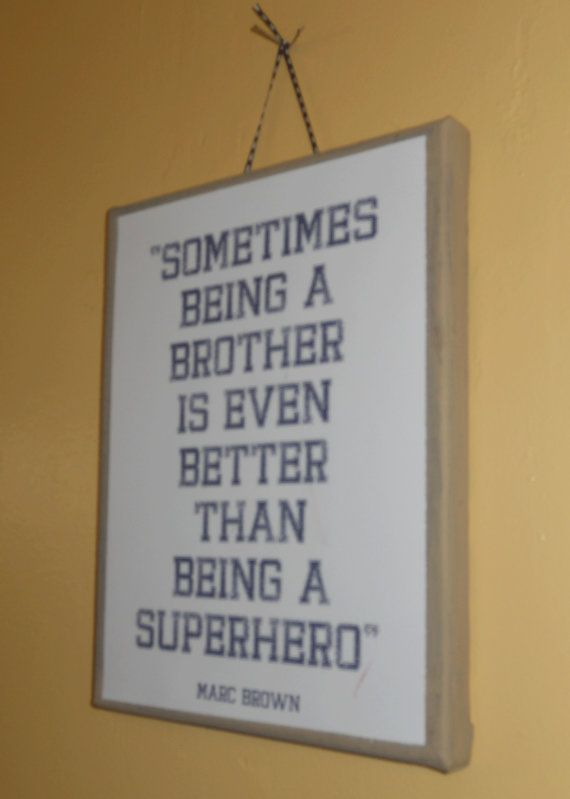 For the playroomChild Room, Bathroom Design, Boys Bathroom, Boys Bedrooms, Big Brothers, Baby Boys, Funny Little Brother Quotes, Boys Room, Superhero
